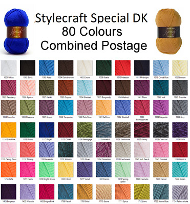 Stylecraft Special DK Wool Double Knitting & Crochet Yarn 100g BUY 10 SAVE 5%