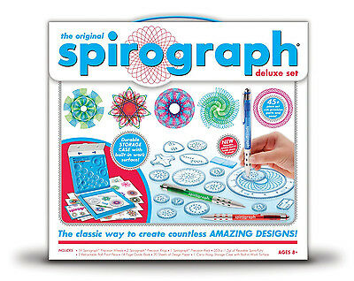 New The Original Spirograph Deluxe Design Drawing 45 Piece Set By Kahootz