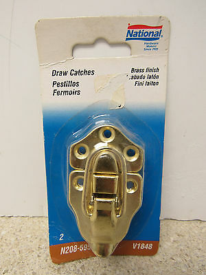 National Brass Finish Lockable Draw Catch 5 Pack