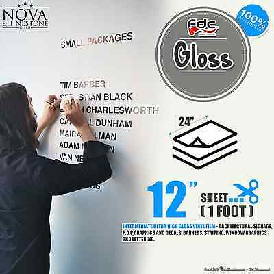"""24"""" x 12"""" Glossy Self Adhesive Sign Wall Craft Vinyl for Cameo & All Cutters !!"""