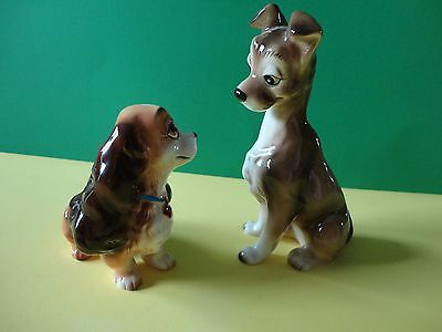 "Lot of 2 - Disney's LADY and the TRAMP (Japan) Figurines - 4"" & 6"""