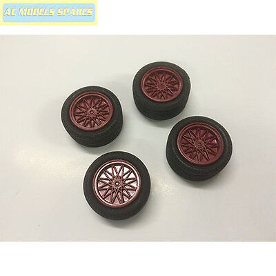 W1438RD Scalextric Spare Wheels (x4)