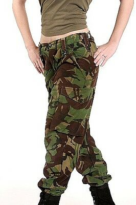 British army camo trousers pants military camouflage cargo combat woodland 1980s