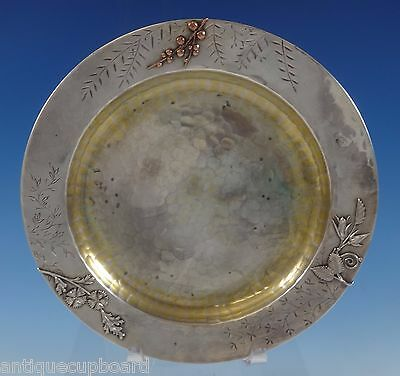 Mixed Metals by Whiting Sterling Silver Plate with Applied Berries #65A (#0772)