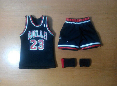 Custom 1/6 black  CHICAGO BULLS MICHAEL JORDAN jersey 23 45 NBA TOYs away
