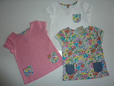 NEXT 3 Cute Little Girls Ditsy T-Shirts NWT