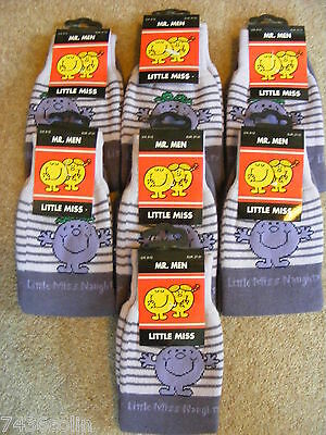 Job lot of 7 Pairs of Little Miss Naughty Children's Socks, RRP £8.95 per Pair