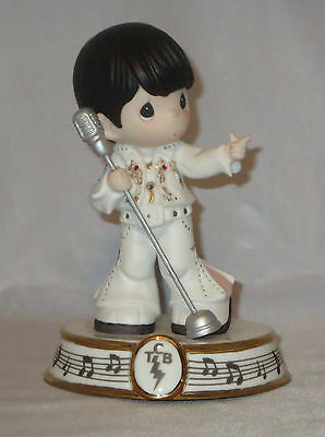 Elvis Presley Precious Moments Figurine Microphone Taking Care of Business NWOB