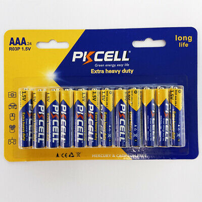 24pcs R03P 1.5V AAA UM4 Toys batteries Heavy Duty Zinc-Carbon Battery PKCELL