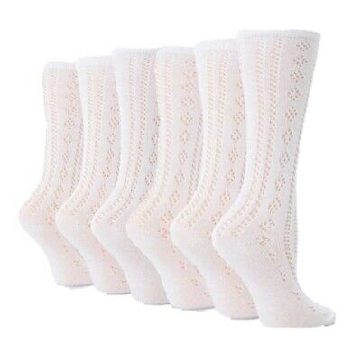 6 Pairs Girls Pelerine Below Knee White Back to School Socks various sizes