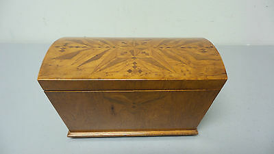 WONDERFUL 19th C. DOME TOP JEWELRY BOX / CASKET w/ INTRICATE INLAID DECORATION