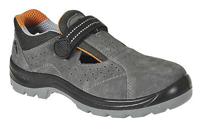 Safety Sandals work shoes Grey breathable antistatic steel toe cap Steelite FW42