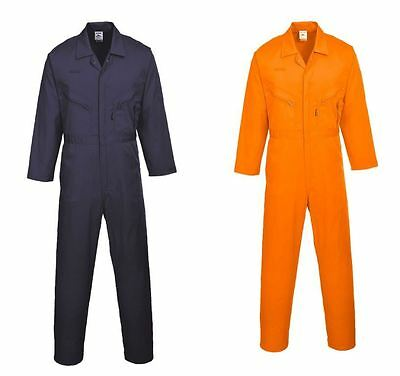 Boilersuit Mens Overall Portwest Zip Coverall  Garage Safety Suit C813 Size
