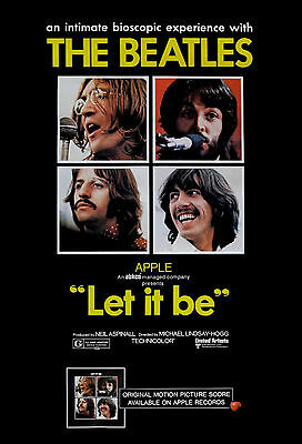 """""""LET IT BE"""" The Beatles Classic Movie Poster A1 A2 A3 A4Sizes"""