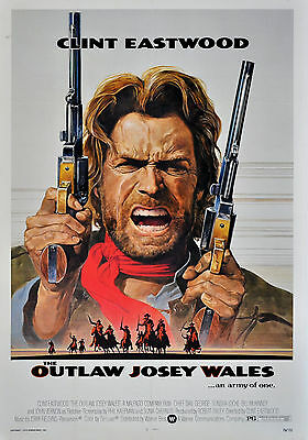THE OUTLAW JOSEY WALES Clint Eastwood Classic Movie Poster A1 A2 A3 A4 Sizes