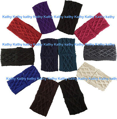 Wholesale 12 PCS HEADWEAR Crochet Cable Solid Knit Headwrap Headband Ear Warmer