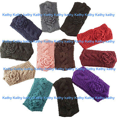 Wholesale 12 PCS HEADWEAR Crochet Cable Knit Flower Headwrap Headband Ear Warmer