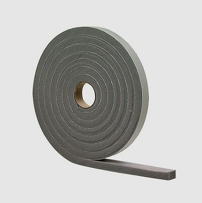 """New 02253 M-D Gray Foam Cell WEATHER STRIPPING TAPE SELF ADHESIVE 3/16""""x3/8""""x17'"""