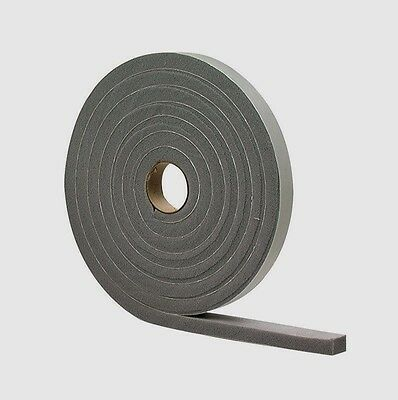 "New! 02295 M-D Gray Foam Cell WEATHER STRIPPING TAPE SELF ADHESIVE 3/8""x1/2""x10'"