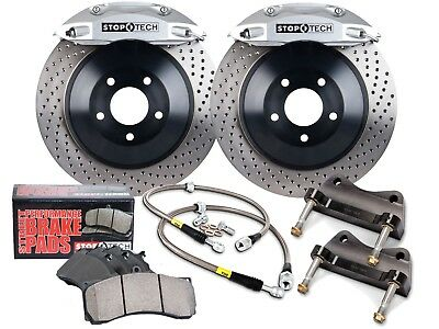 Stoptech Touring Bbk Big Brake Kit (Front/silver/4 Pistons/drilled/355Mm Rotors)