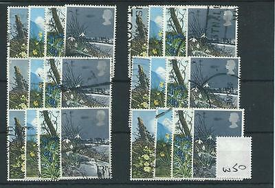 Gb - Commemoratives - 1979 - W50 - Six Sets - Spring Wild Flowers - Used