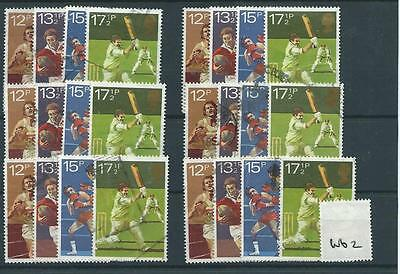 Gb - Commemoratives - 1980 - W62 - Six Sets - Sports Centenaries  - Used