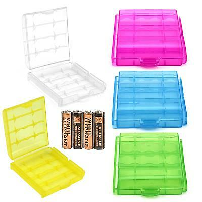 Portable Hard Plastic Case Holder Storage Box For 4X Rechargeable AA AAA Battery