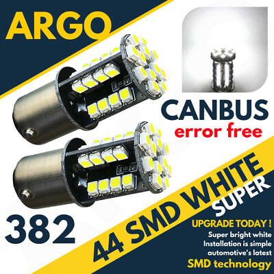 44 Smd Led Canbus Error Free Super White 382 1156 P21W Ba15S Front Fog Bulbs Hid