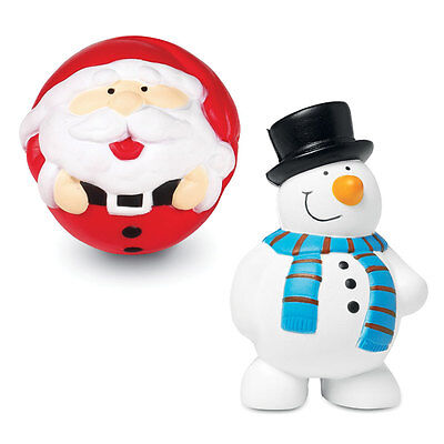 10 X Anti Stress Christmas Reliever Stress Ball ADHD Autism Mood Snowman Santa