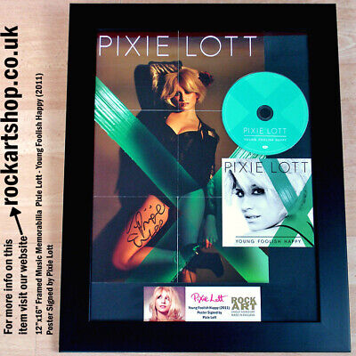 PIXIE LOTT Young Foolish Happy SIGNED POSTER CD COA Autographed *WORLD SHIP