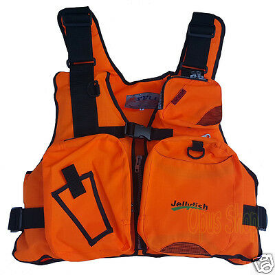 Adult Fisherman Fishing Gear Buoyancy Aid Life Jakcet Vest Safety Equipment