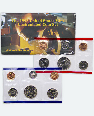 1995 United States US Mint 12 pc Uncirculated Coin Set SKU1401