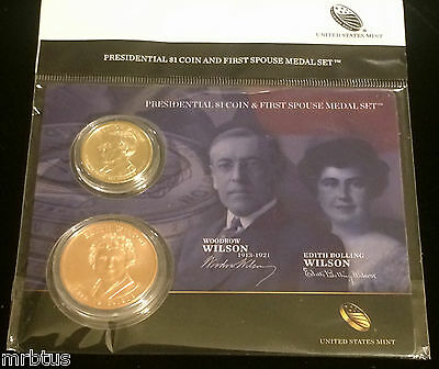 2013 EDITH  And WOODROW WILSON FIRST SPOUSE MEDAL $1 Presidential COIN Set