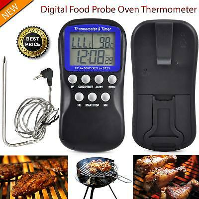Digital Food Probe Oven Thermometer for Cooking Baking Meat & Temperature Sensor