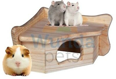 Trixie Wooden Corner Guinea Pig Rat Chinchilla Degu Cage House Hide 61322