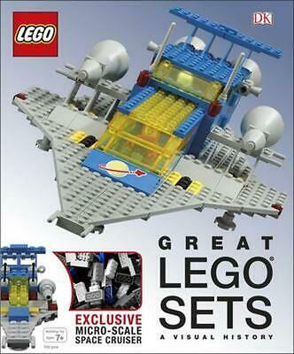 Great LEGO Sets A Visual History by Daniel Lipkowitz Hardcover Book