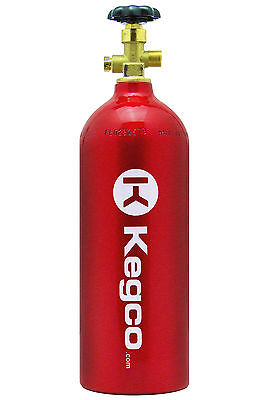 NEW Kegco 5 lb. Red Aluminum Co2 Tank Kegerator Draft Beer Homebrew Aquarium
