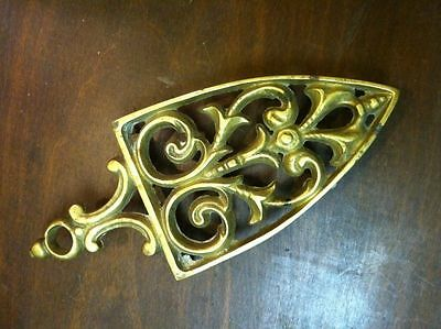 Antique Late 19th Century Victorian 3-Leg Brass Trivet Stand Kitchen Hot Plate