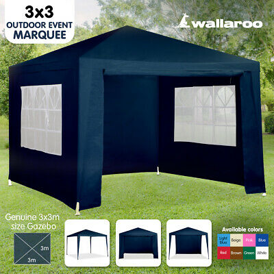 NEW BLUE 3x3 GAZEBO PARTY TENT EVENT MARQUEE AWNING OUTDOOR PAVILION CANOPY