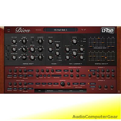 u-he DIVA Virtual Analog Synthesizer Software Synth Plug-in NEW MAKE OFFER