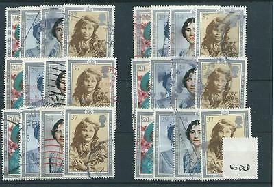 GB - COMMEMORATIVES - 1990 - W138 - SIX SETS - 90th BIRTHDAY - Q. MOTHER  - USED