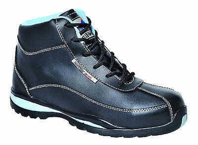 Safety Boots Ladies/Womens Steel Toe Cap Leather Work shoe Hiking Hiker FW38
