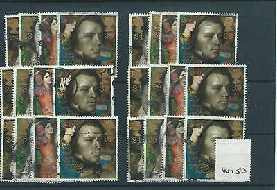 Gb - Commemoratives - 1992 - W150 - Six Sets - Alfred, Lord Tennyson   - Used