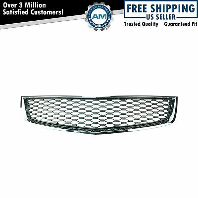 Grille Lower Flat Black & Chrome Trim for 10-13 Chevy Equinox