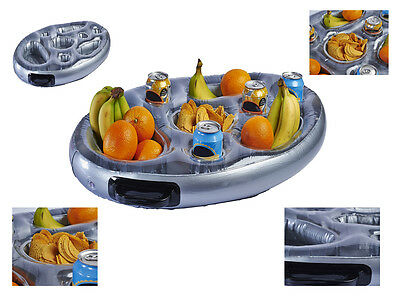 8 Compartment Inflatable Spa Bar Pool Hot Tub Side Tray For Food Drinks Snacks