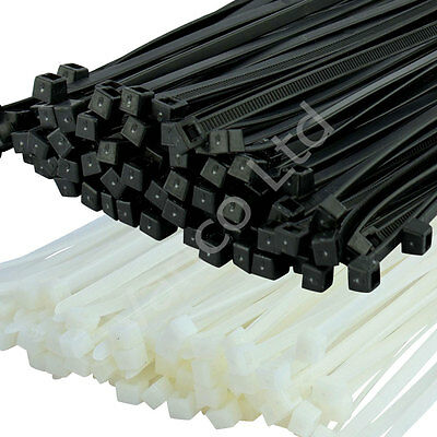 Black & Natural Cable Ties / Zip Tie / Tie Wraps - 100mm - 380mm UK Seller