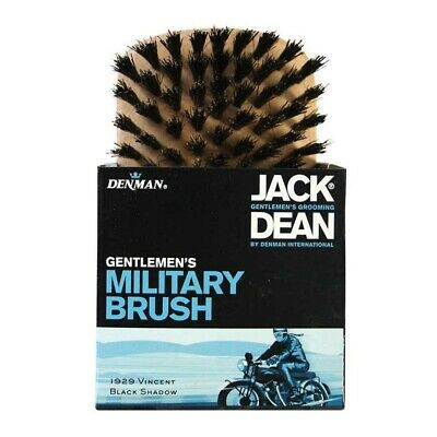 Jack Dean Mens Military Hair Brush Grooming Fits in Palm