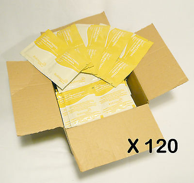 120 x SACHETS ANTIBACTERIAL HAND WIPES 130 X 200mm ALCOHOL BASED BACTERICIDAL
