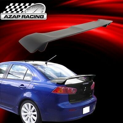 2008-2015 OE Style Rear Trunk Spoiler Wing Matte Black ABS For Mitsubishi Lancer