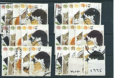 Gb - Commemoratives - 1995 - W174 - Six Sets - Cats  - Used